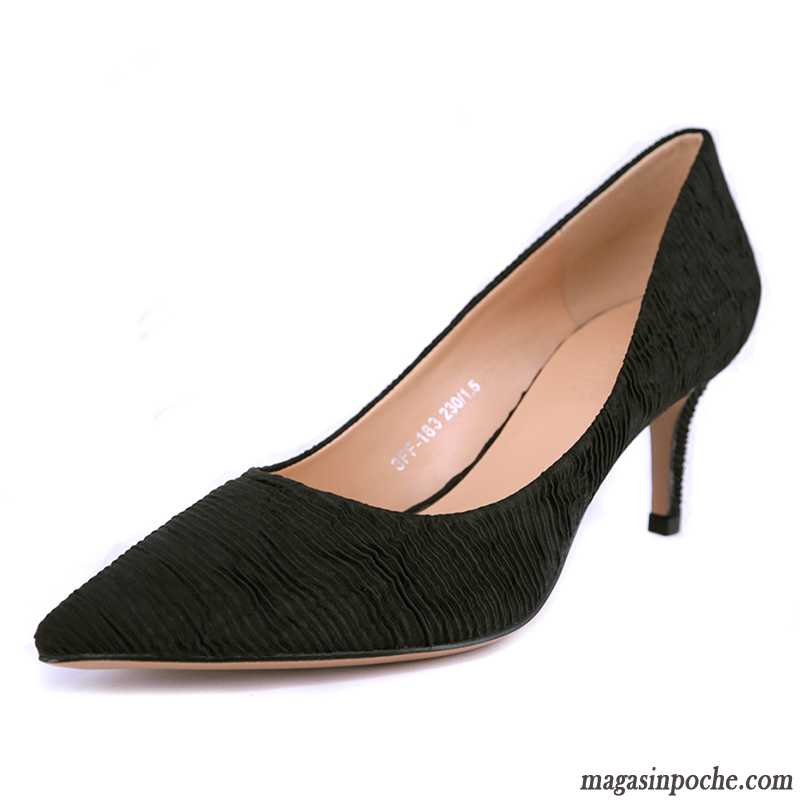 207f5319ea6 Acheter Escarpins Femme Femme Noir L automne Simple Pointe Pointue Talons  Minces Casual Chocolat