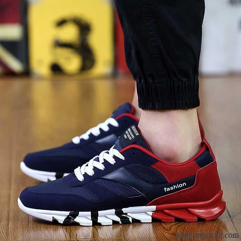 basket chaussure homme chaussures de course l ve tendance t homme casual l 39 automne vin rouge. Black Bedroom Furniture Sets. Home Design Ideas