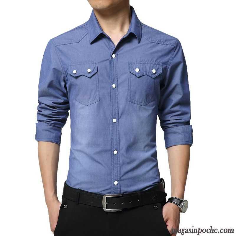 belle chemise homme printemps slim d contract e l g re chemise homme clair manches longues gris. Black Bedroom Furniture Sets. Home Design Ideas