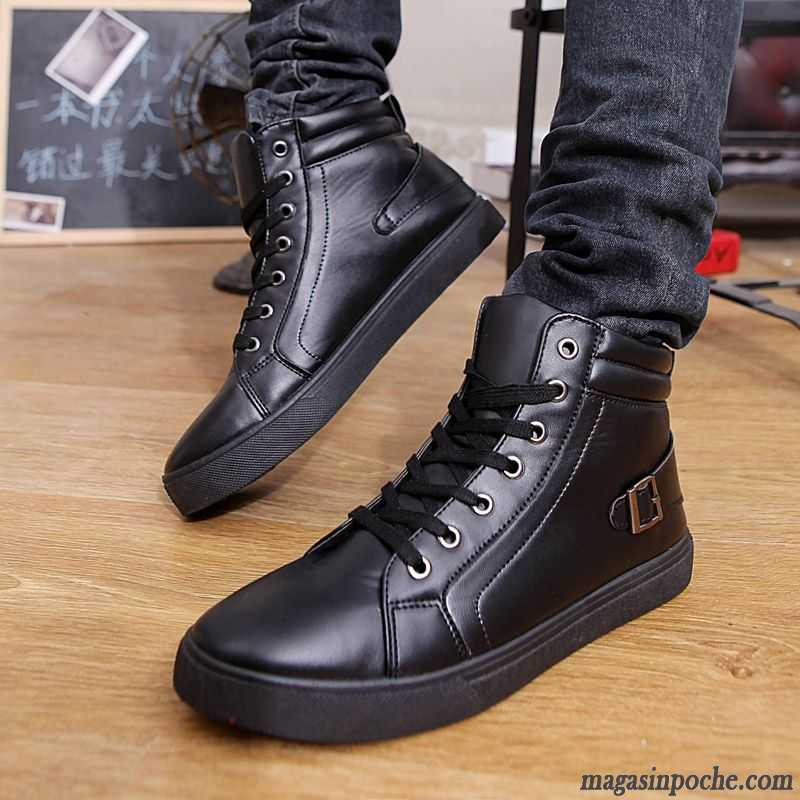 boots homme noir cuir tendance l 39 automne homme hautes bronzage pas cher. Black Bedroom Furniture Sets. Home Design Ideas