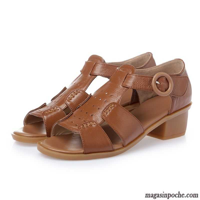 3795ac47ed0e Chaussure Femme Sandales Semelle Doux Creux Guipure Casual Femme Talons  Compensés Cuir Véritable Sandales Été Gris