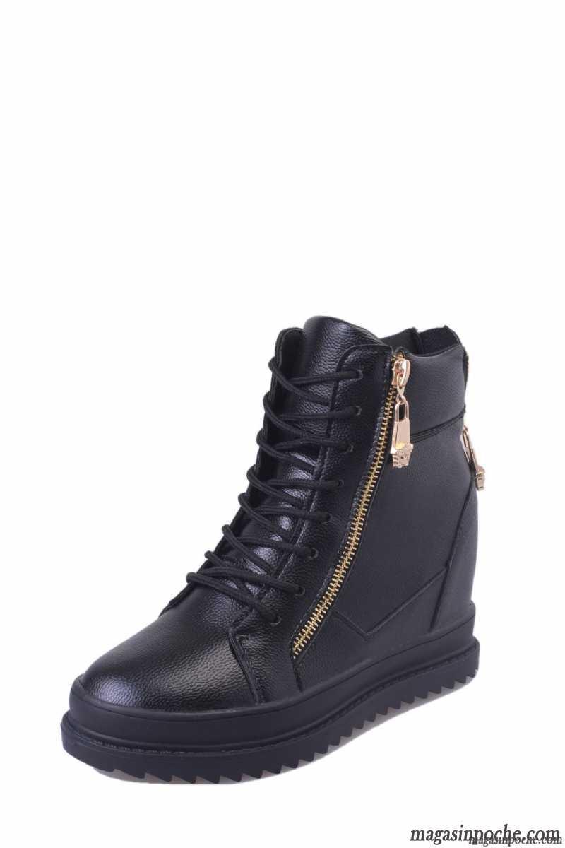Chaussures automne à fermeture éclair marron Casual femme VYQDL0Sm