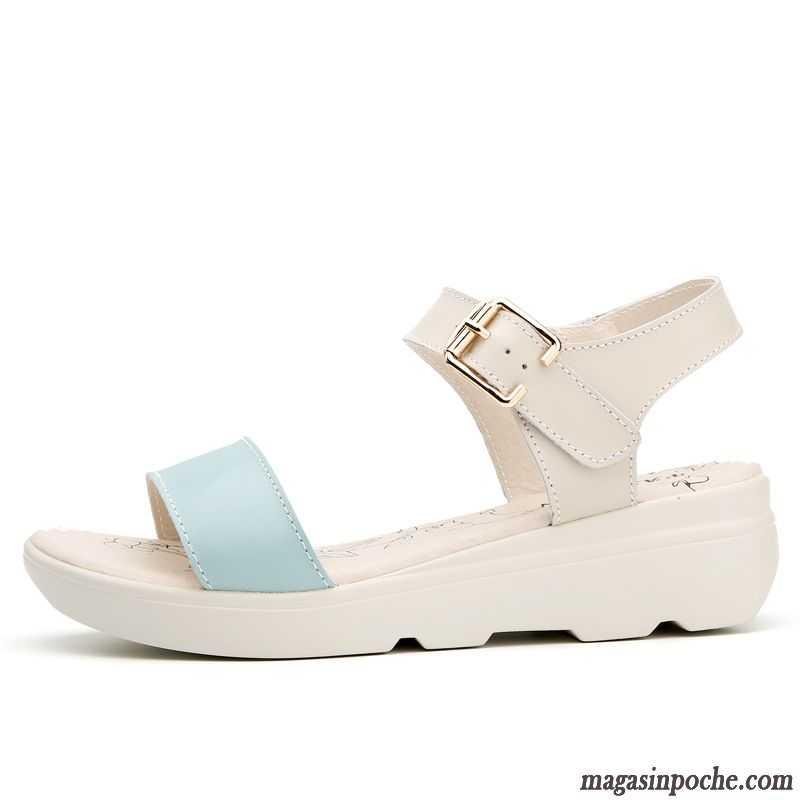 Chaussures Sandales Élève Pas Femme Cher Confort Plates doCxBe