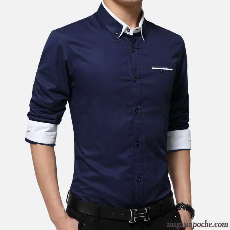 chemise jean homme pas cher pure homme professionnel chemise mode matelass longue de travail. Black Bedroom Furniture Sets. Home Design Ideas