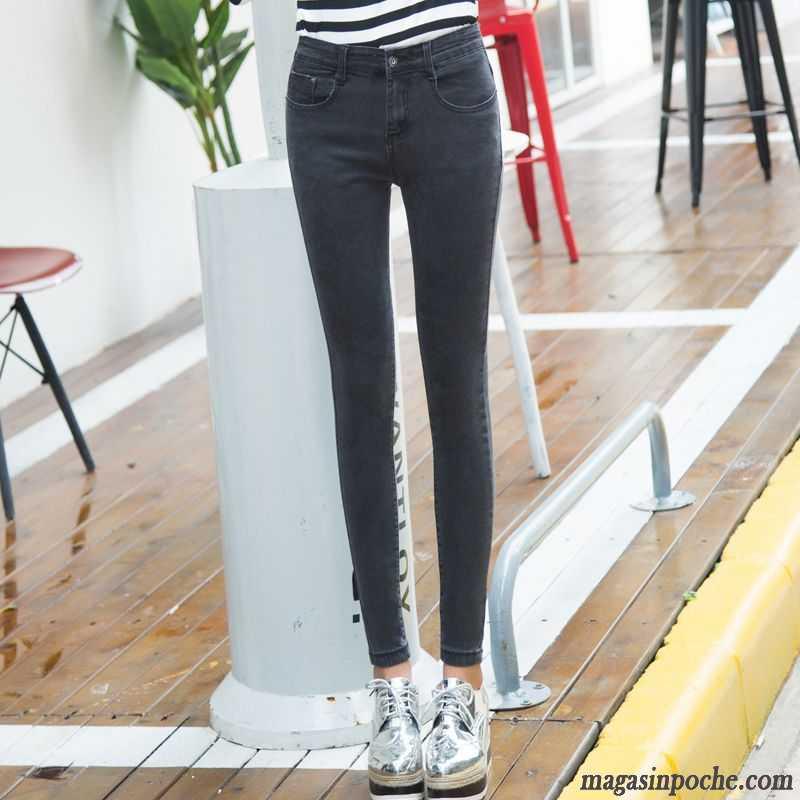jean bootcut taille haute femme noir pantalons crayon l 39 automne et l 39 hiver mince forme haute. Black Bedroom Furniture Sets. Home Design Ideas