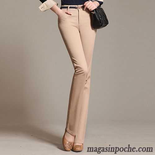 Jean Large Femme Taille Haute Slim Femme Jambe Droite Pantalon Blanc Mince  Printemps Automne Forme Haute ...