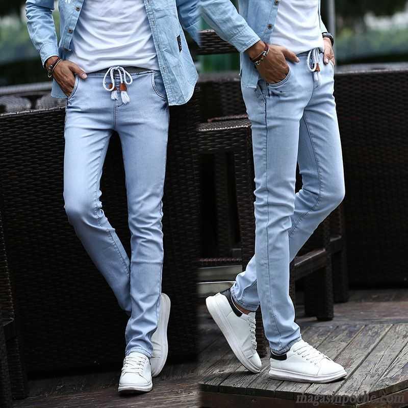 jeans energie homme pas cher extensible jeunesse homme automne middle waisted jeans tendance. Black Bedroom Furniture Sets. Home Design Ideas