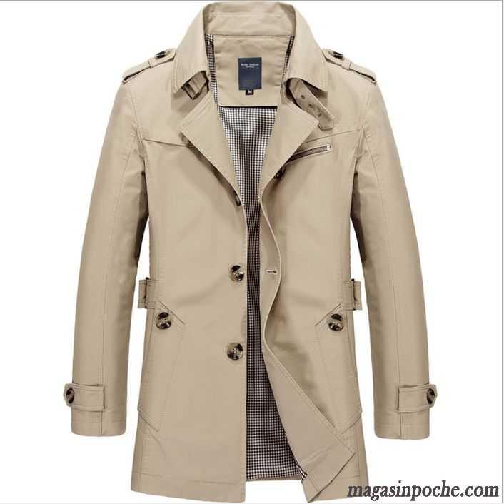 manteau t homme homme tendance l g re coupe vent taillissime d contract e longue pardessus. Black Bedroom Furniture Sets. Home Design Ideas