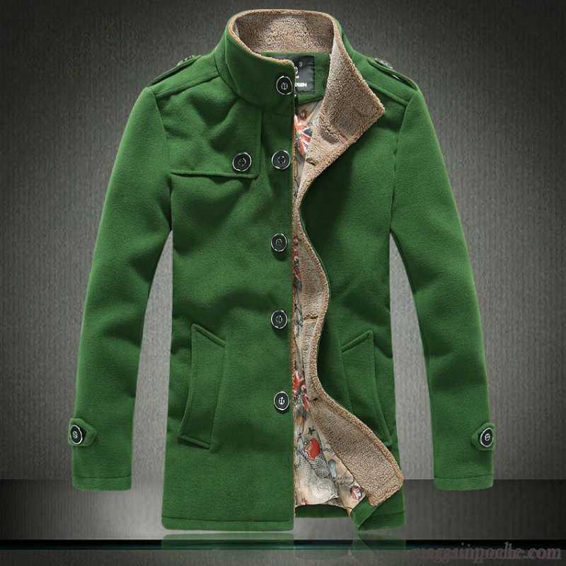 Taillissime Coton Une L'automne Manteau Homme Rangée Bouton À Longue XOS10nq15