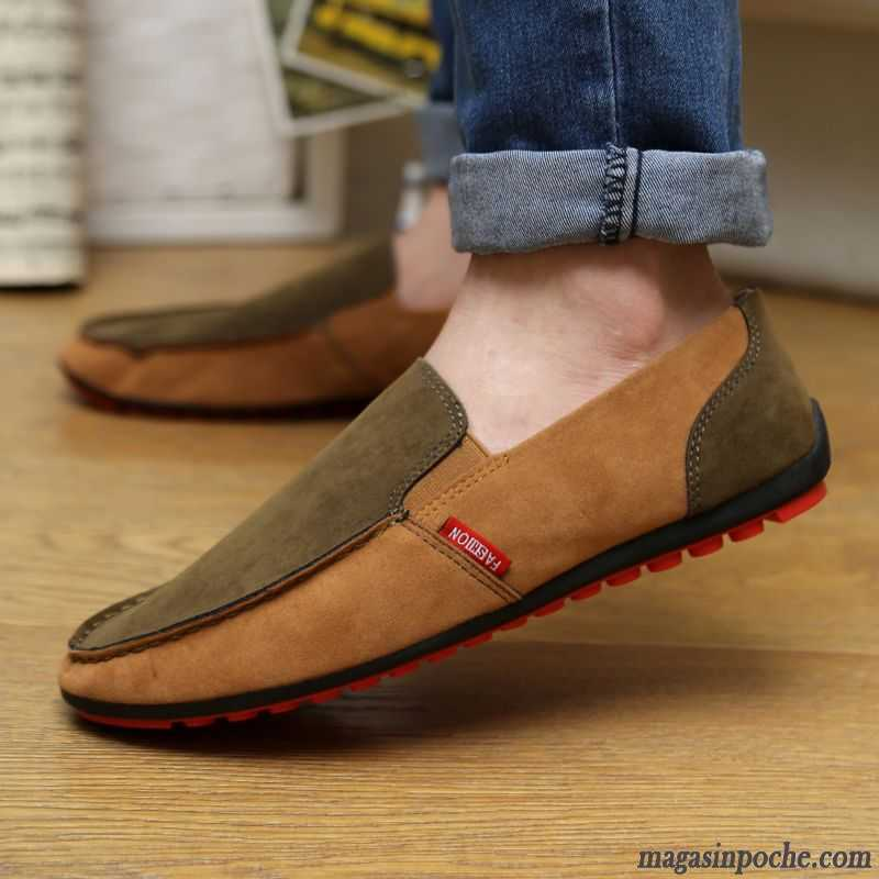 Chaussures automne kaki Casual homme fLvfpCo