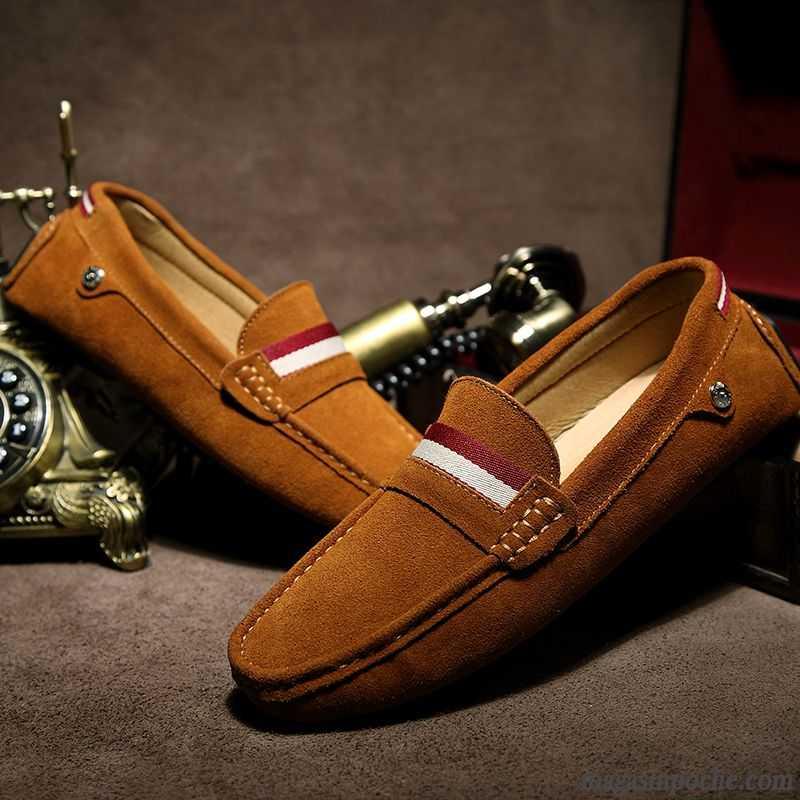 YQXR Chaussures en cuir Nouveaux 2020 Classique daffaires Souliers simple dhomme en cuir v/éritable Penny souple et confortable Fashion Mocassins anti-d/érapant Flat Slip-on for /éviter une collision /à