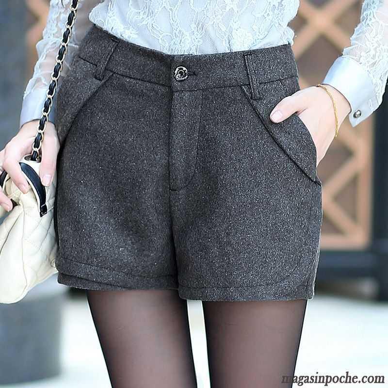 pantalon femme simili cuir la laine femme shorti l 39 automne. Black Bedroom Furniture Sets. Home Design Ideas