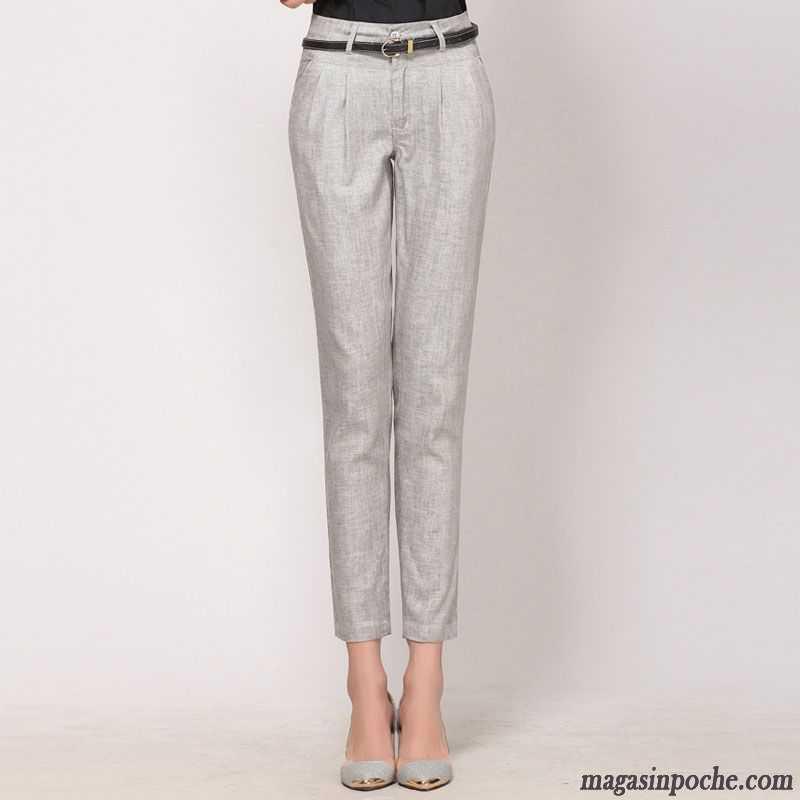 Pantalon Femme Slim Maigre Taillissime Pantalons Décontractés L automne Femme  Couleur Neuvième Pantalon Marine 818fa5c31e7d