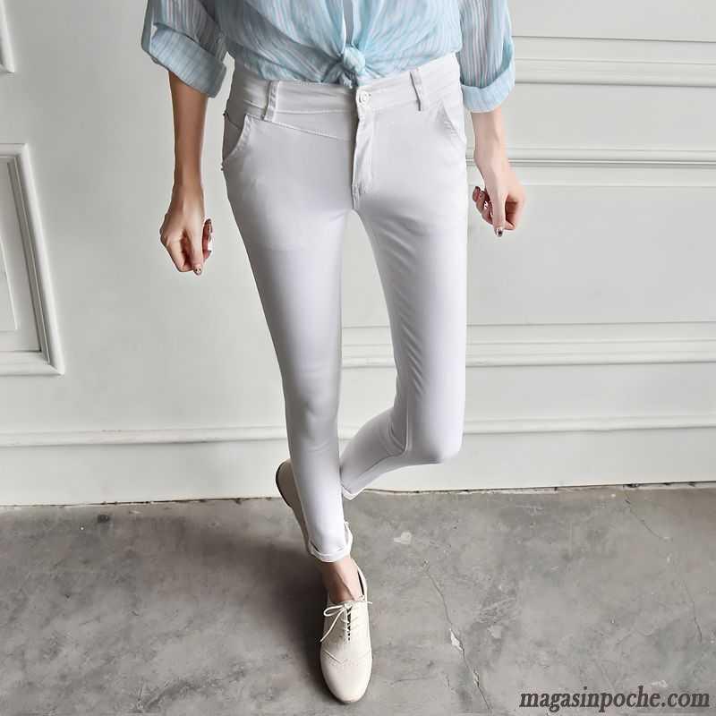 Femme Taille Haute Pas Cher Jeans Pantalon Femme Neuvième Pantalon