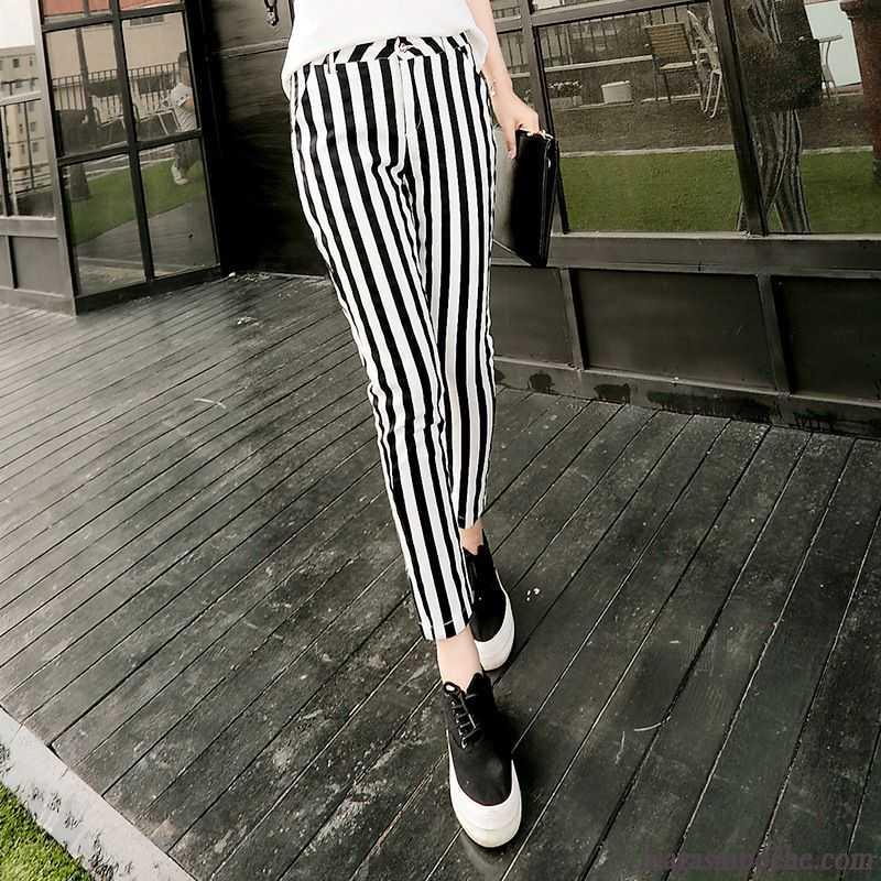 pantalon noir taille haute noir mince slim ray t tendance maigre pantalons d contract s femme. Black Bedroom Furniture Sets. Home Design Ideas