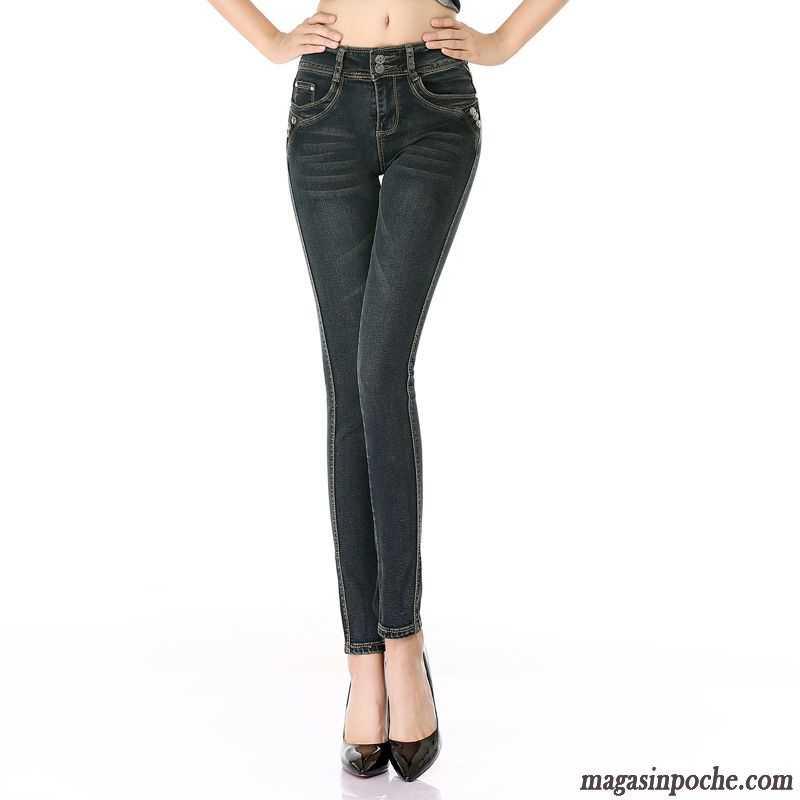 buy online ff1e6 c7282 Pantalon Pas Haute Taille Jeans Cher Maigre Femme Mince L automne 4wqvap