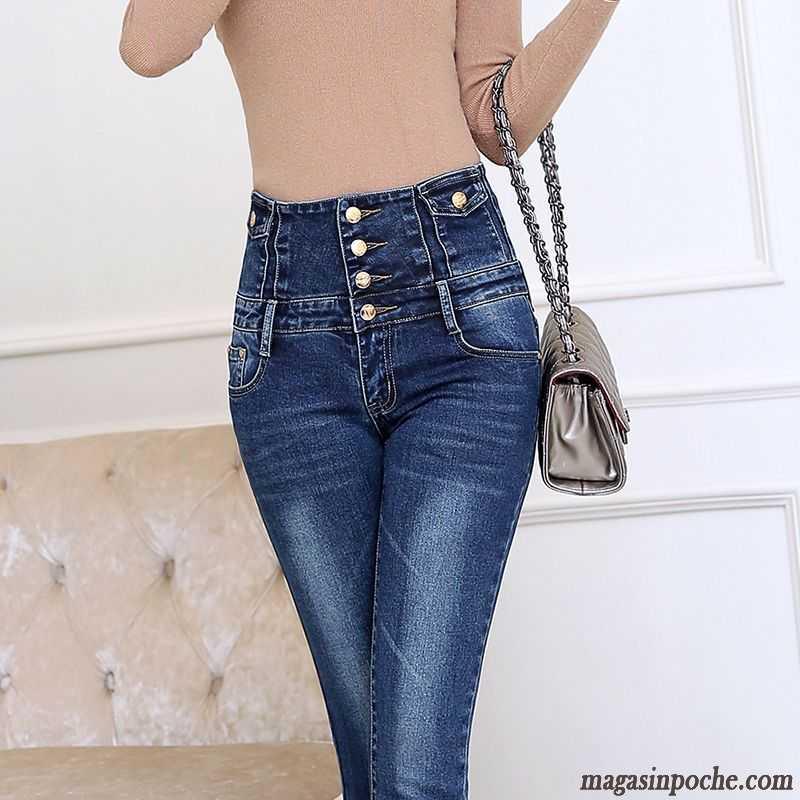 Extensible Pantalon Cintrée Très Haute Femme Taille Forme 354AjLqRc