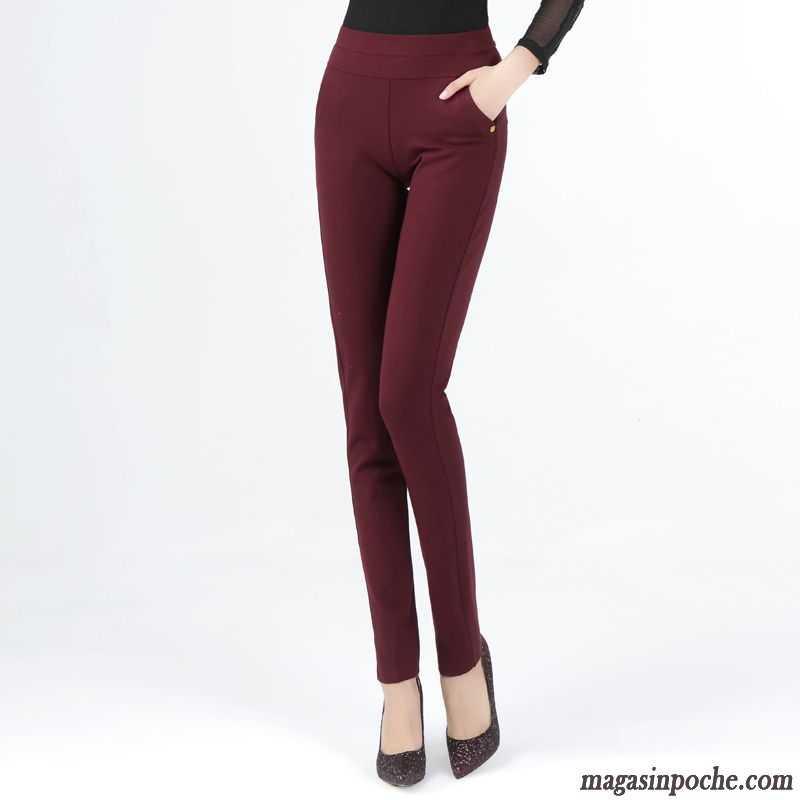 pantalon tailleur taille haute mode pantalon printemps extensible pantalons d contract s femme. Black Bedroom Furniture Sets. Home Design Ideas
