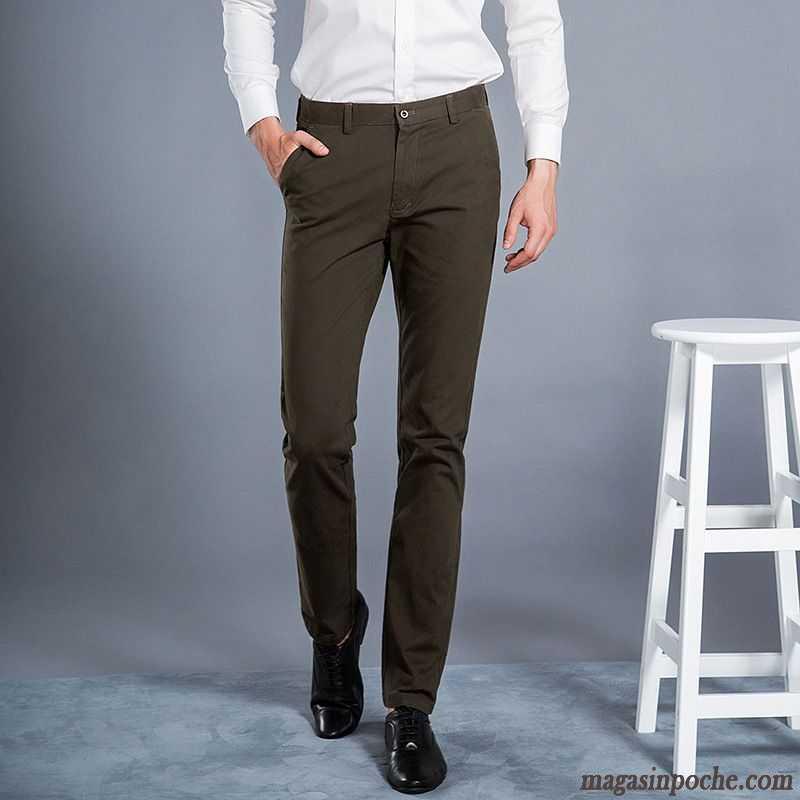 Pantalon Velours Homme À Pinces Homme Pantalon Tendance Slim Automne Jambe  Droite Pantalons Décontractés Rose Saumon