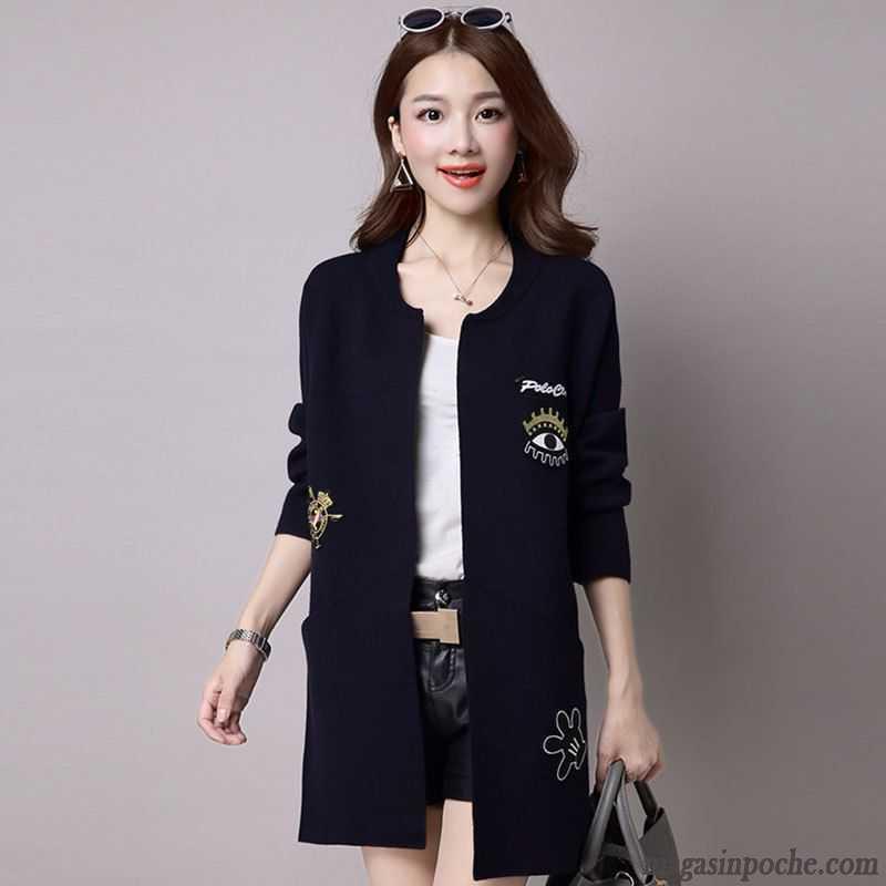petite veste noire femme manteau col rond femme longue de laine l 39 automne tendance pardessus azur. Black Bedroom Furniture Sets. Home Design Ideas