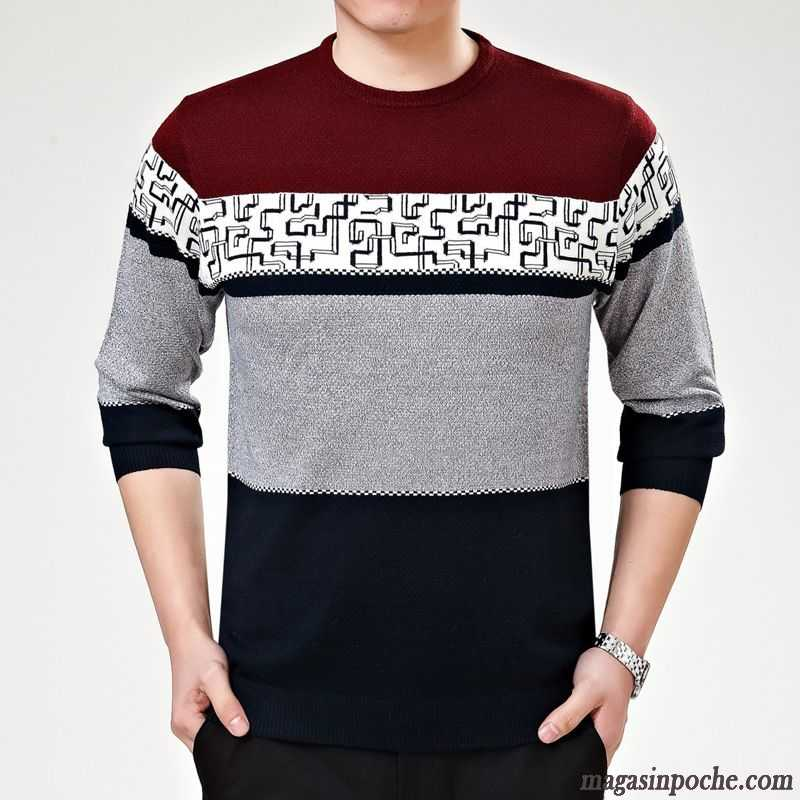 pull homme chaud automne homme col rond manches longues tricots en maille confortable bien la. Black Bedroom Furniture Sets. Home Design Ideas