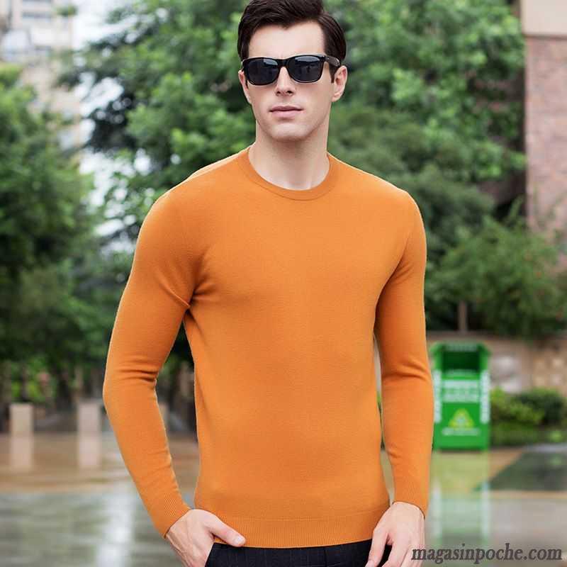 pull over homme pas cher chemise en bas manches longues mode la laine col rond pull pur homme l. Black Bedroom Furniture Sets. Home Design Ideas