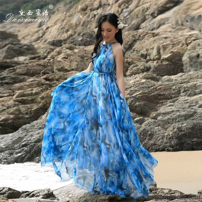 robe femme blanche gros vacances plage mode t robe slim jupe longue noir. Black Bedroom Furniture Sets. Home Design Ideas