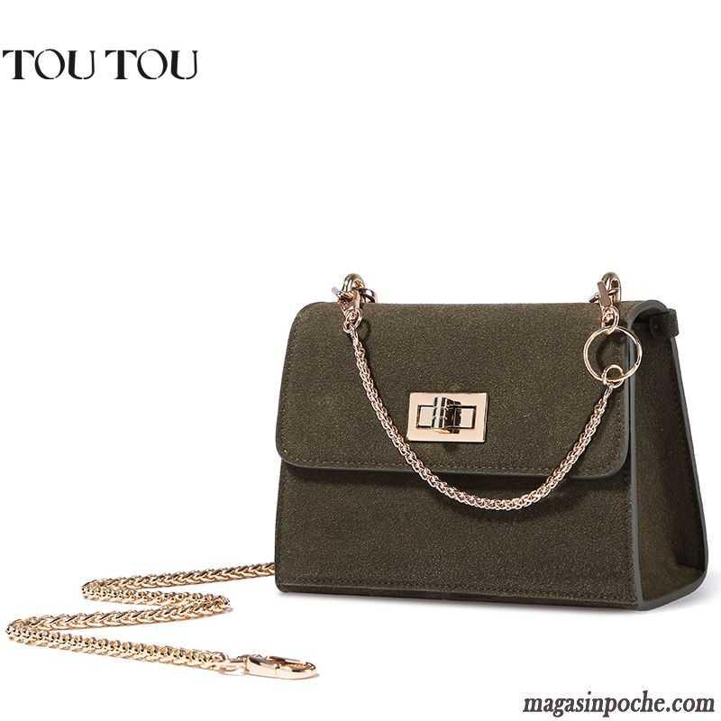 f0e3e19850 Sac Bandoulière Femme Noir L'automne Mode Chaîne Mini Hiver Daim Sacs À  Bandoulière Blanc Pas Cher