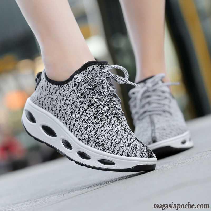 Sport Direct Chaussure De Foot Yoga Ligne Volante Femme Coussin D'air  Respirant Casual Chaussures De Course Gris Charbon