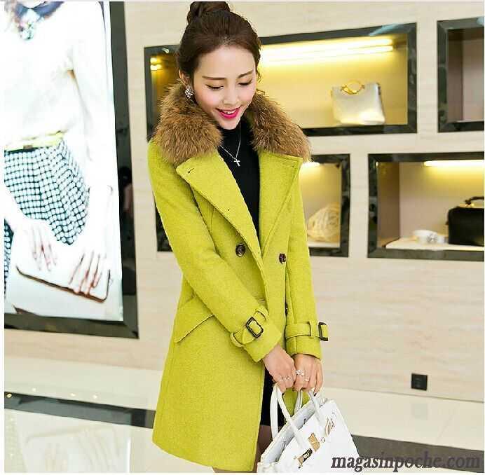 veste en jean grise femme col de fourrure coupe vent tendance femme manteau l 39 automne et l 39 hiver. Black Bedroom Furniture Sets. Home Design Ideas