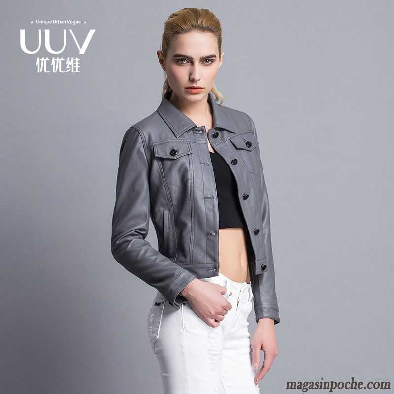 veste en jean grise femme slim court pardessus femme blouson col mandarin printemps veste. Black Bedroom Furniture Sets. Home Design Ideas