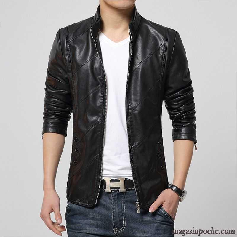 veste en jean homme noir mode veste col mandarin slim. Black Bedroom Furniture Sets. Home Design Ideas