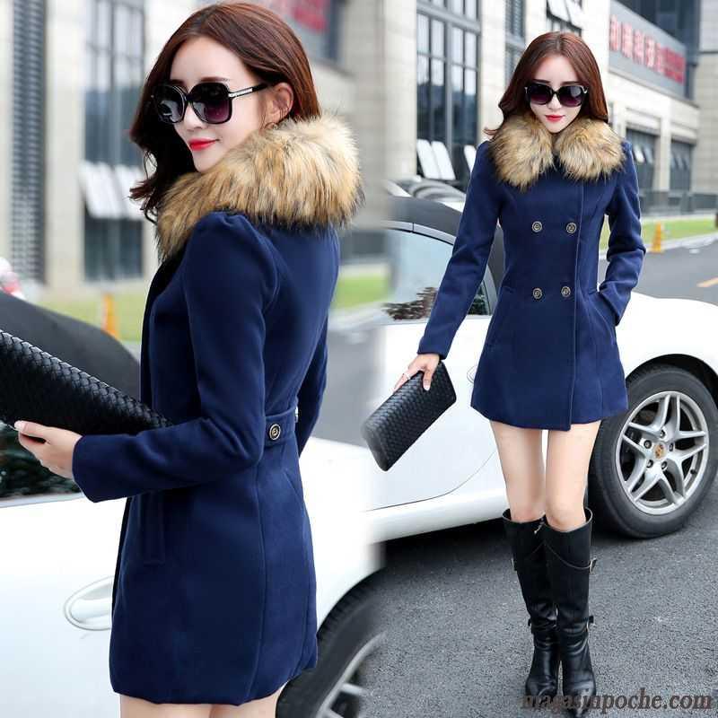 Veste simili cuir femme hiver