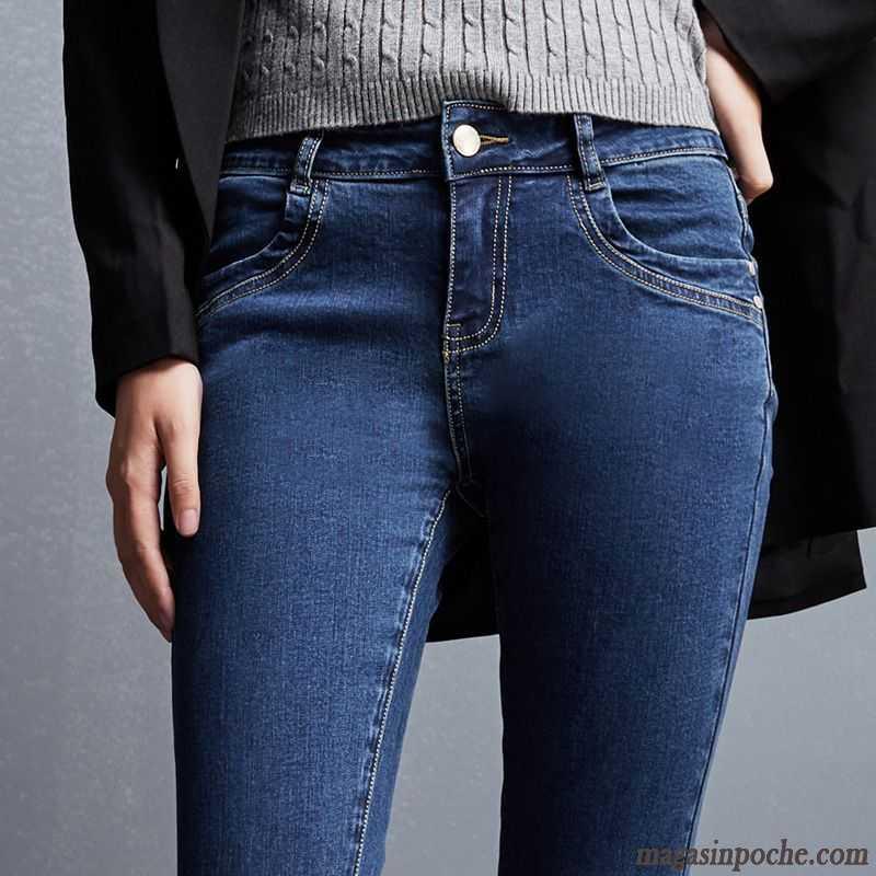 Veste Waisted Jean Extensible Tendance Middle Taillissime Femme qCRw480q