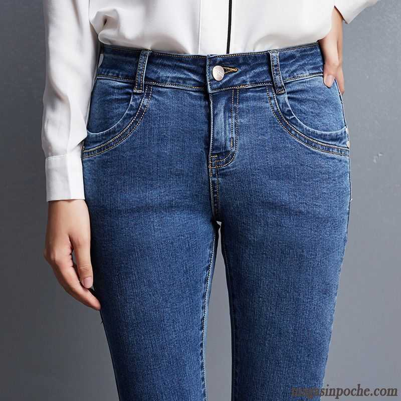 Tendance Taillissime Middle Extensible Femme Sgqwsrf Waisted Jean Veste 1AdwTqd