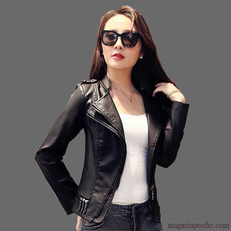 veste simili cuir femme slim blouson dame pu pardessus court taillissime veste bronzage. Black Bedroom Furniture Sets. Home Design Ideas