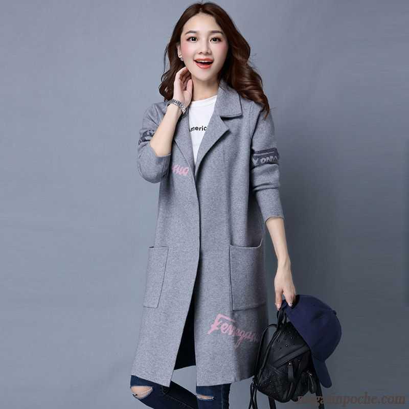 veste tres courte femme tendance tricots en maille baggy cardigan l 39 automne et l 39 hiver longue. Black Bedroom Furniture Sets. Home Design Ideas