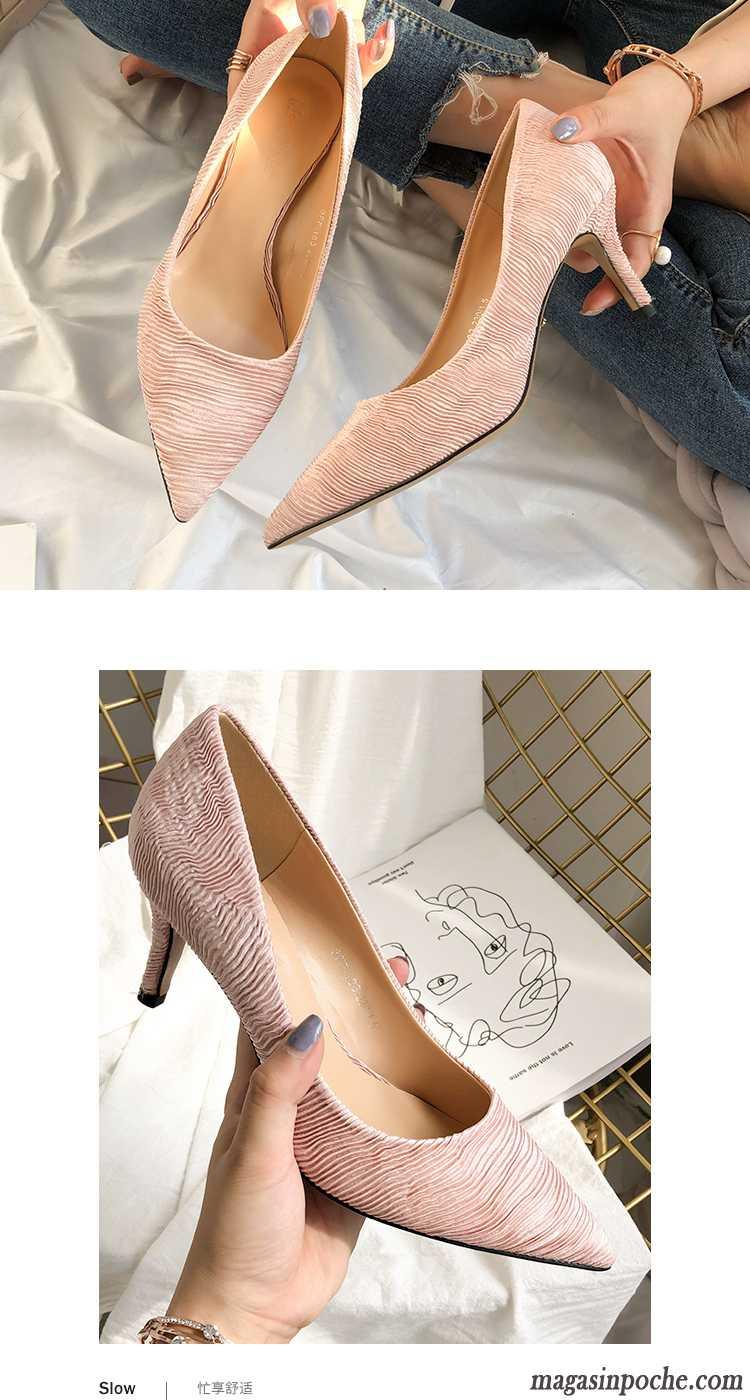 027082e9548 Acheter Escarpins Femme Femme Noir L automne Simple Pointe Pointue ...