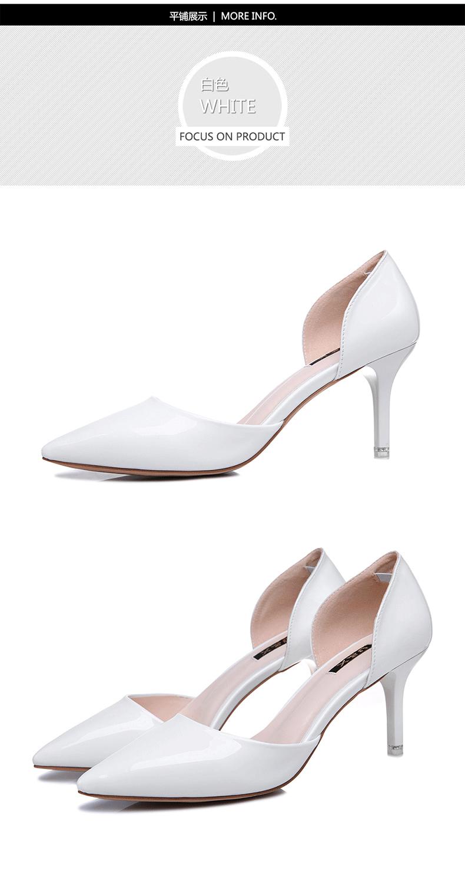 9b1d94a969d Escarpin Fermé Noir Talons Minces Sexy Chaussures En Cuir Mode ...
