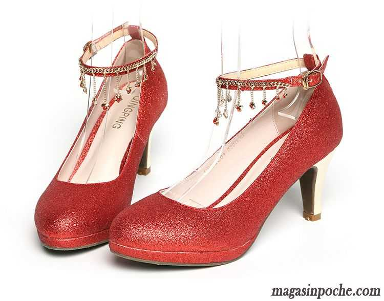 Chaussures de mariage roses Fashion femme uA6pyN