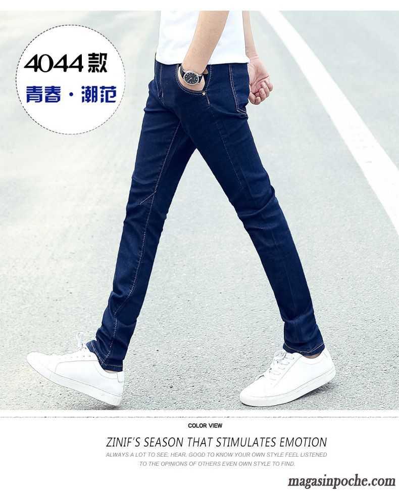 factory price usa cheap sale the sale of shoes Jeans En Solde Homme Jeans Pantalon Homme L'automne Et L'hiver Extensible  Slim Maigre Blanc D'huître