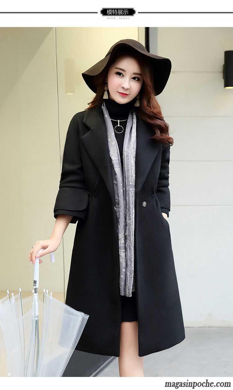 mode veste femme longue manteau automne et hiver de laine tendance slim rouge. Black Bedroom Furniture Sets. Home Design Ideas