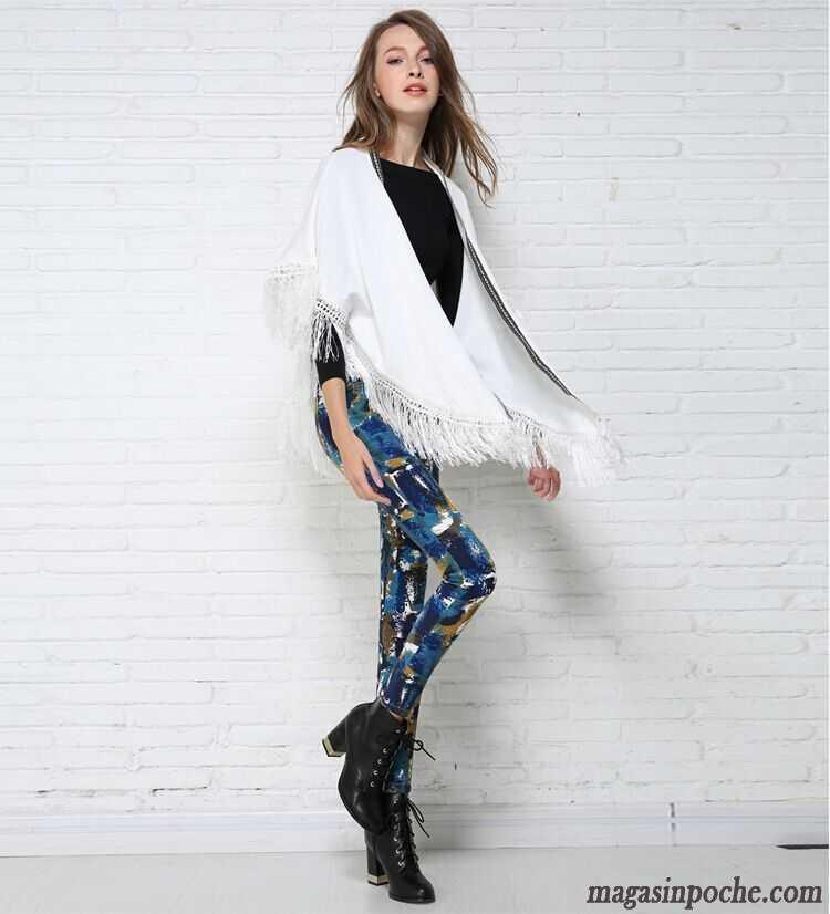 pantalon blanc femme taille haute impression taillissime extensible printemps leggings dessous. Black Bedroom Furniture Sets. Home Design Ideas