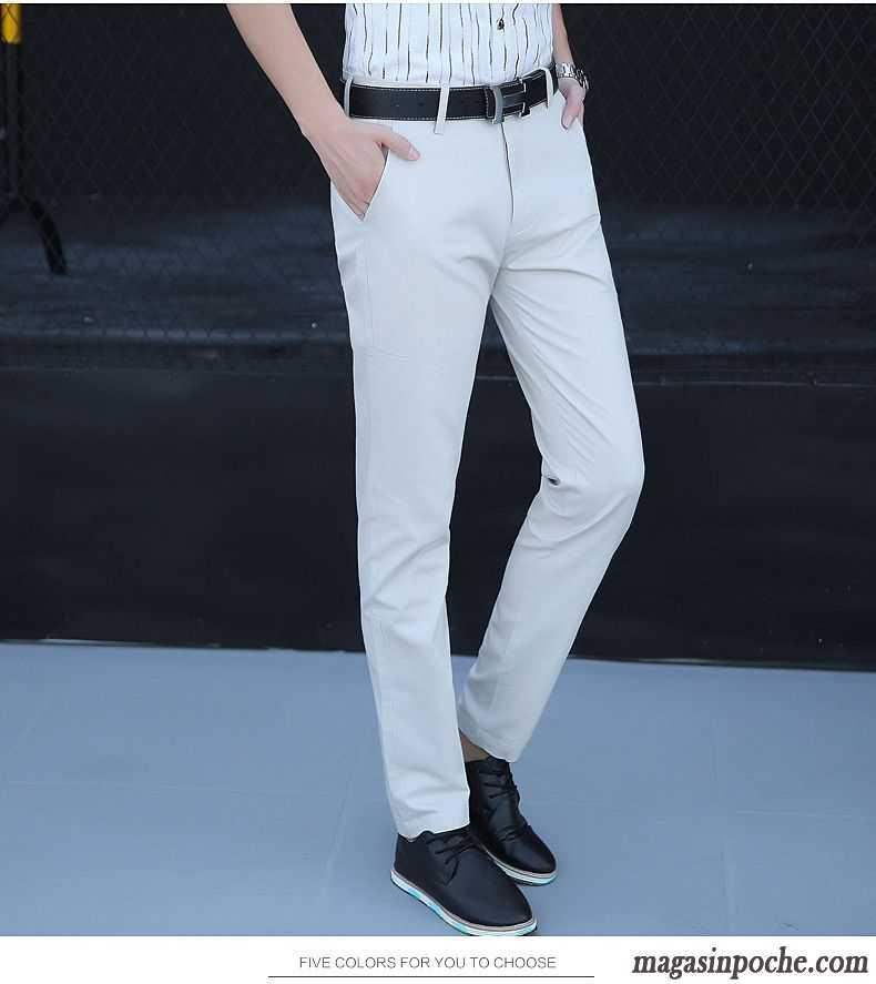 pantalon homme coupe droite jambe droite pantalon tendance slim printemps t baggy pantalons. Black Bedroom Furniture Sets. Home Design Ideas