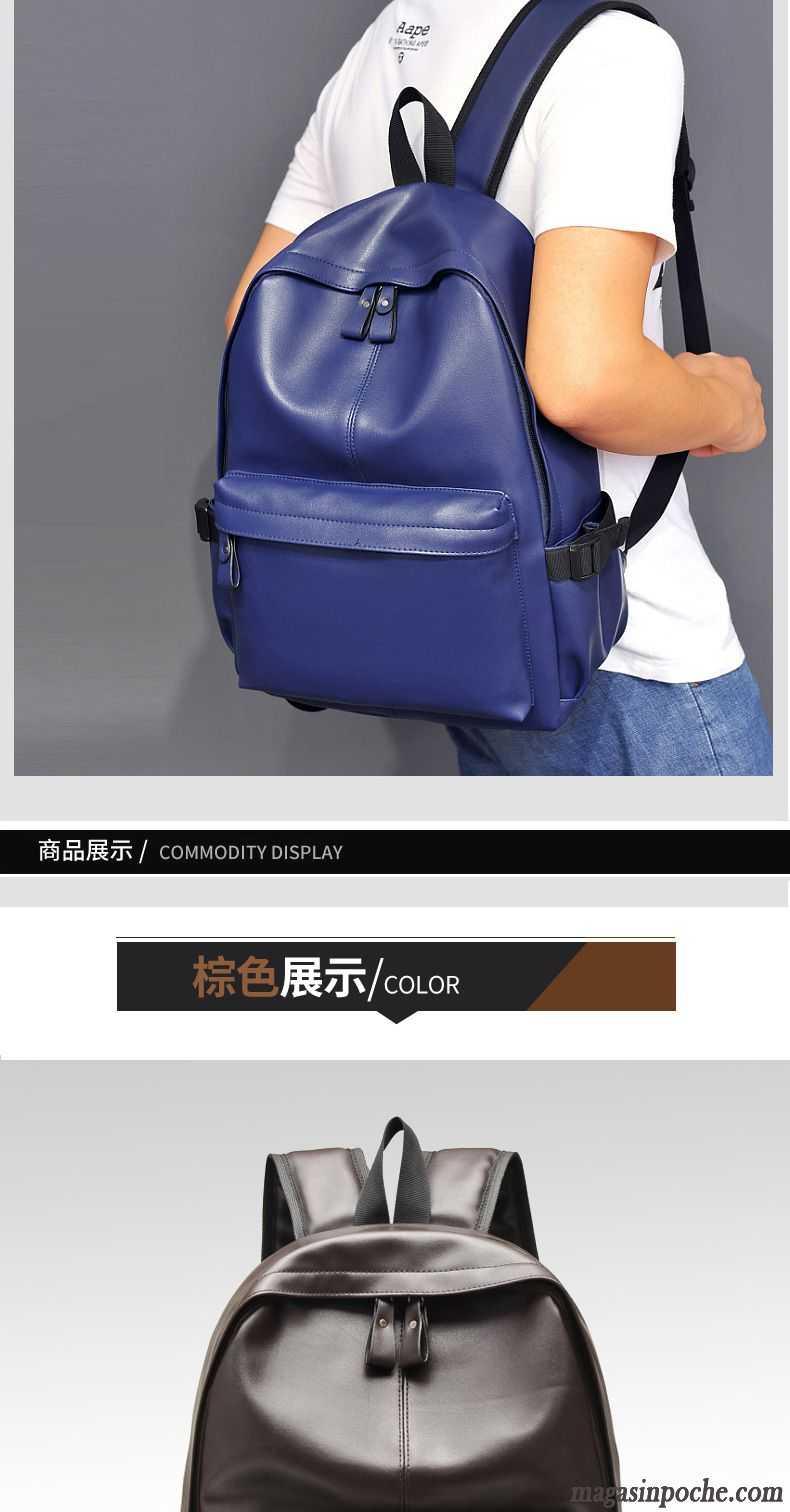 sac sport cuir noir sac d 39 ordinateur portable loisir sac. Black Bedroom Furniture Sets. Home Design Ideas