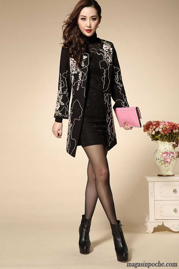 veste femme grise pardessus taillissime femme broder l 39 automne et l 39 hiver de laine manteau slim. Black Bedroom Furniture Sets. Home Design Ideas