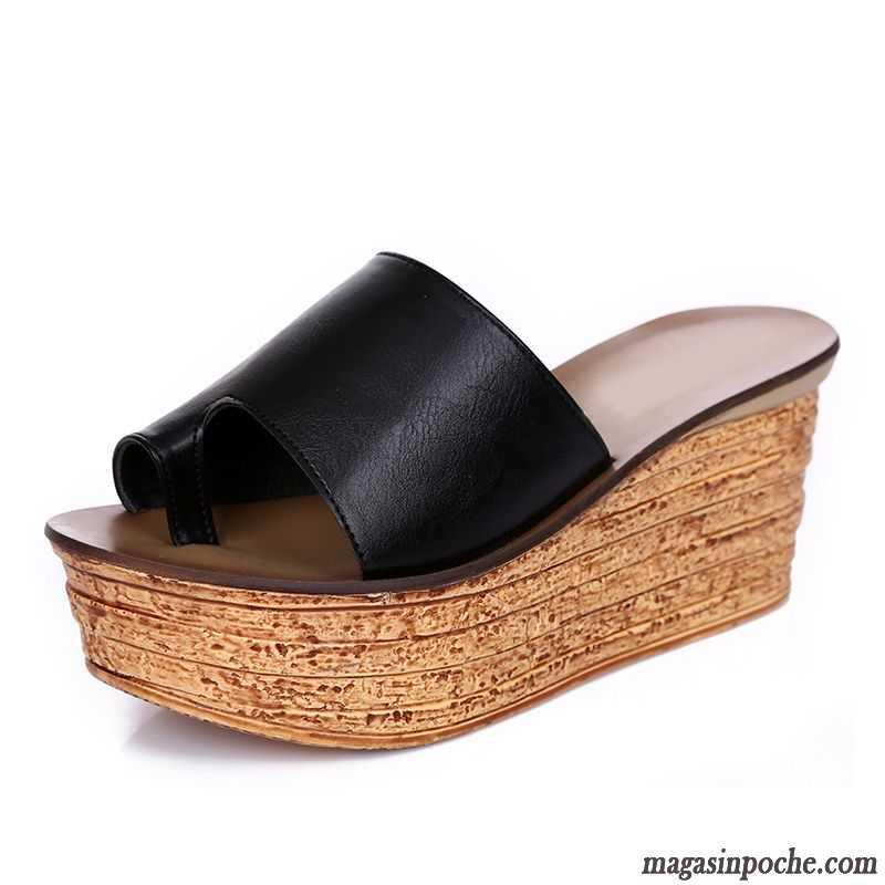 chaussure sélection spéciale de en présentant Achat Chaussure Chausson Femme Talons Compensés Femme Mode Été Semelle  Épaisse Argent