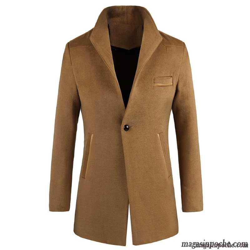 manteau laine homme hiver top manteau canadienne homme de laine dcontracte tendance pardessus. Black Bedroom Furniture Sets. Home Design Ideas