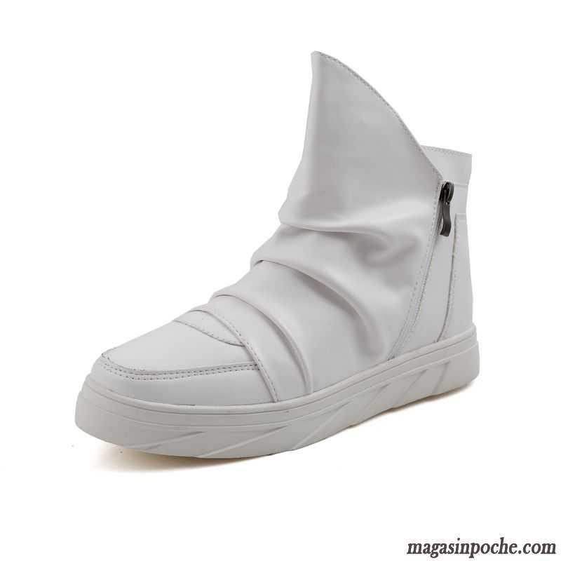 Boots Homme Cuir Marron L'automne Chaussures En Cuir Personnalité Homme Angleterre Blanc Respirant Adolescent Tous Les Assortis Hautes Tendance Or Vente
