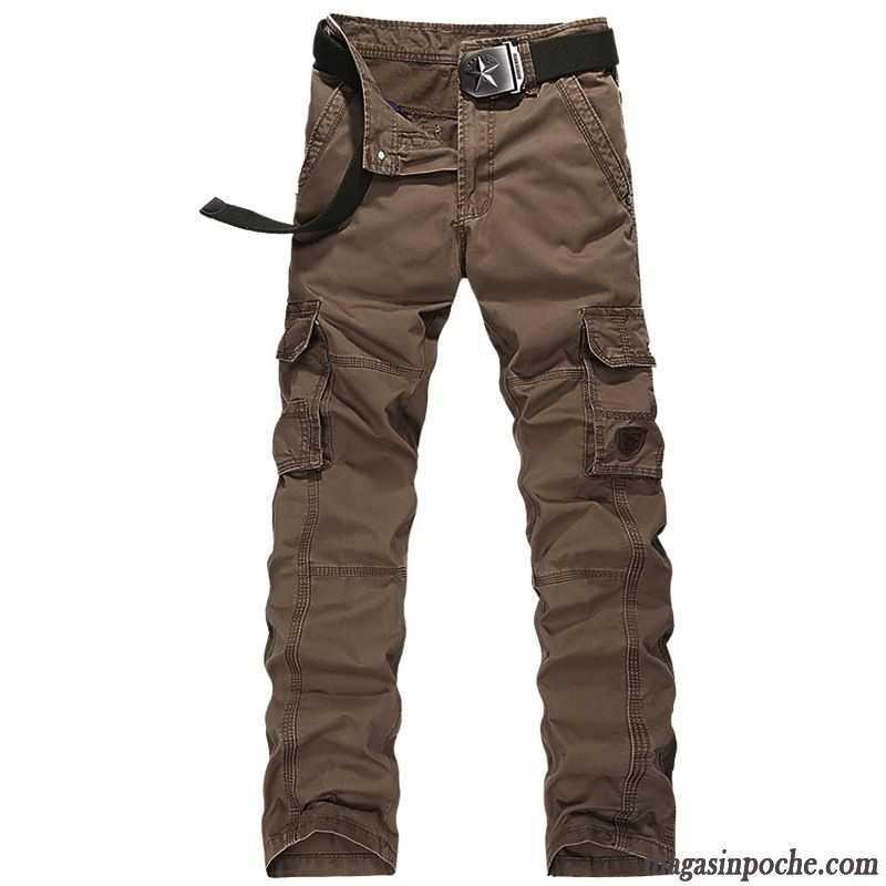 Multi Boutique Homme Homme Coton Pantalon Bureau Bio Crème Décontractée poche Pantalon 0fp7qxfg